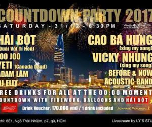 Hải Bột trở lại trong Đại tiệc Countdown Party 2017 tại Acoustic bar